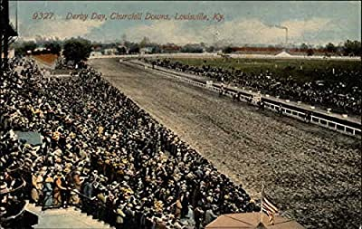 Derby Day, Churchill Downs Louisville, Kentucky Original Vintage Postcard