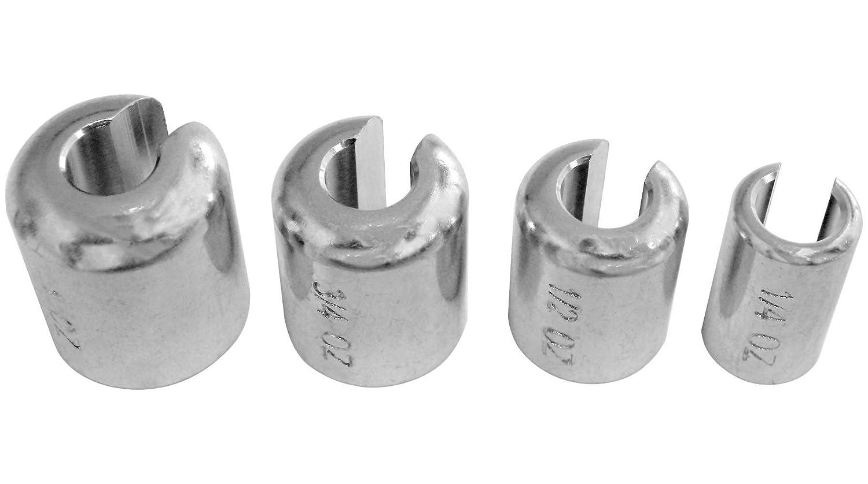K&L Supply Non-Lead Compliant Spoke Wheel Weights -1/4oz. - Chrome 32-7091 LEPAZA56957
