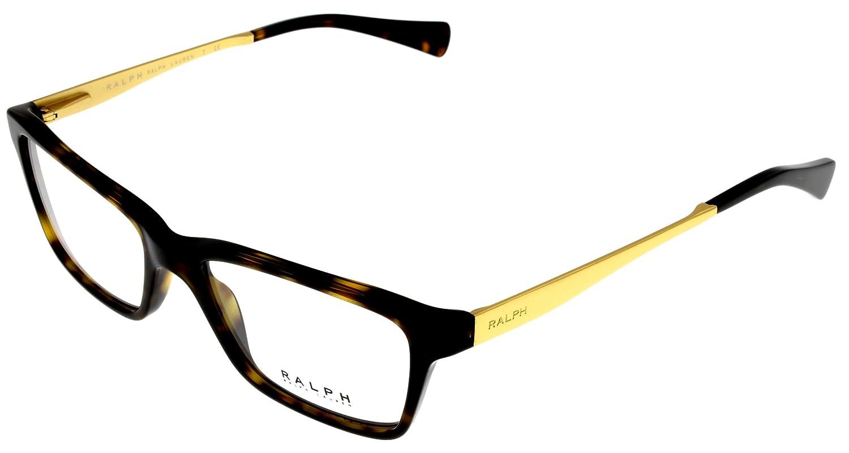 1a0e99636ee Ralph by Ralph Lauren Women Eyeglasses Designer Havana Rectangular RA7051  502  Amazon.ca  Clothing   Accessories