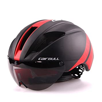 BBYY Cascos de ciclismo Y gafas Hombre/mujer Extraíble Fuerza magnética Gafas Visera Bicicleta de