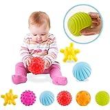 ZHUOTOP 6pcs bébé texturé balle multi-set infantile balles sensorielles massage balle molle
