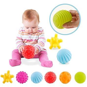 ZHUOTOP 6pcs Bebé Con Textura Multi Ball Set Infantil Bolas ...