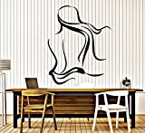 BorisMotley Wall Decal Spa Salon Naked Woman Vinyl Removable Mural Art Decoration Stickers for Home Bedroom Nursery Living Room Kitchen