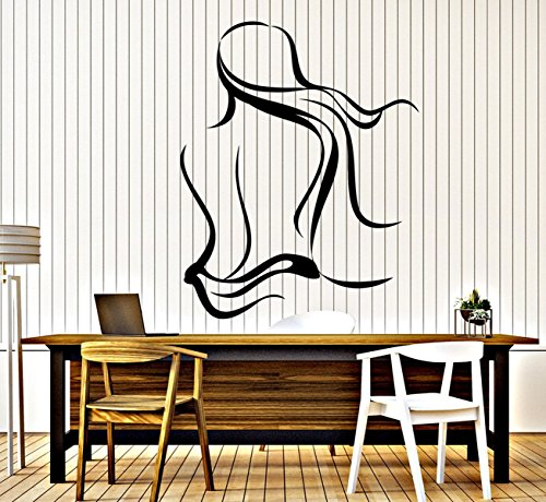BorisMotley Wall Decal Spa Salon Naked Woman Vinyl Removable Mural Art Decoration Stickers for Home Bedroom Nursery Living Room Kitchen by BorisMotley