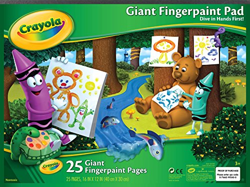 (Crayola Giant Fingerpaint Paper, 25 Pages, 16