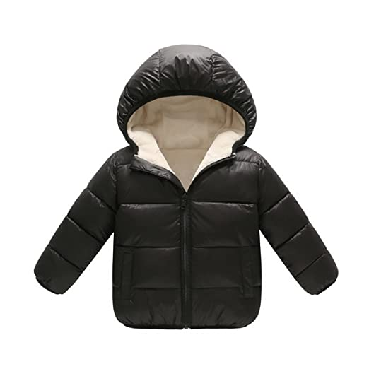 d74ab4c69496 Amazon.com  Wintie Baby Boys Girls Hoodie Down Puffer Jacket Fleece ...