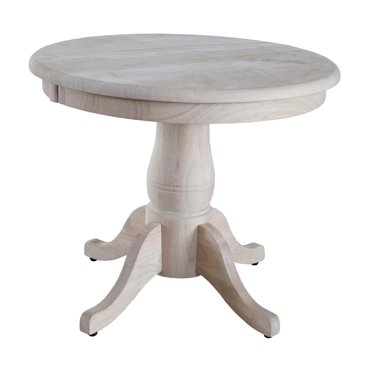International Concepts Unfinished Round Pedestal Table, 22-Inch