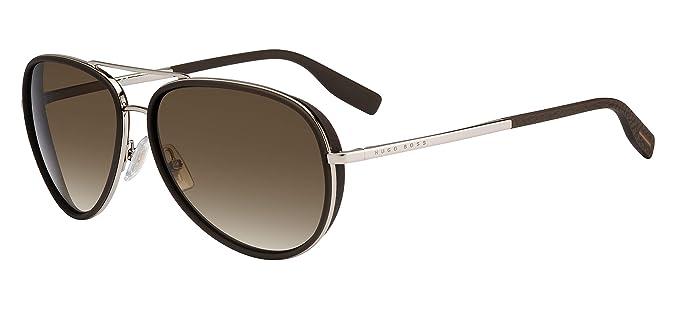 Amazon.com: Gafas de sol Boss Negro 510 /N/S 03YG Lgh Gold ...