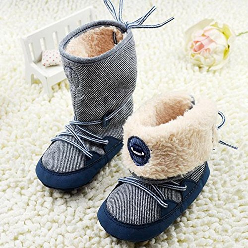 Price comparison product image Kidstree Toddler Boots, Soft baby shoes, 0-18M Winter Baby Boy Boots Soft Sole Lace Up baby Soft Toddler Boots Shoes (13)