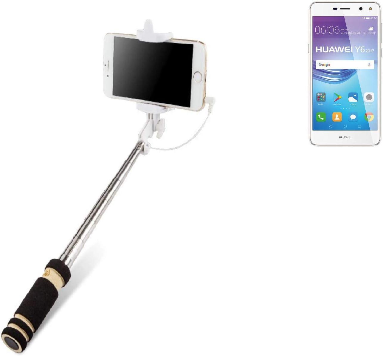 K-S-Trade Selfie Stick palillo para Huawei Y6 2017 Dual SIM, Negro ...