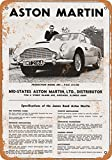 james bond vintage - Wall-Color 9 x 12 METAL SIGN - 1966 James Bond Aston Martin - Vintage Look Reproduction