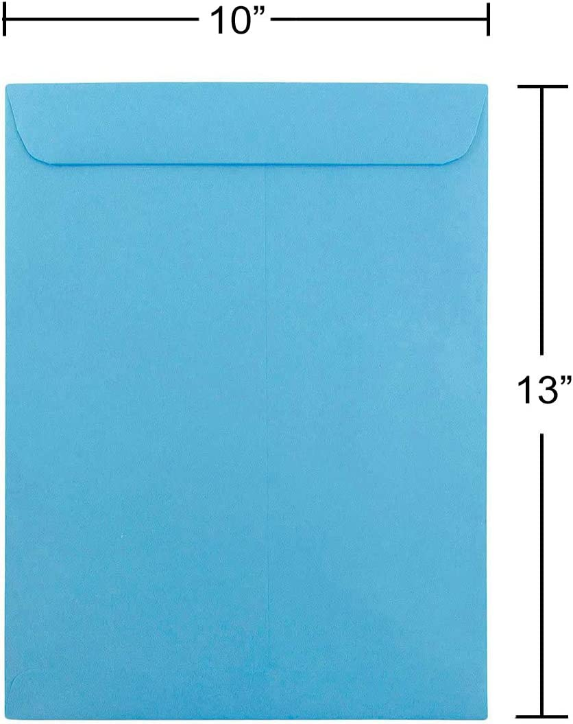 Orange Recycled 50//Pack JAM PAPER 10 x 13 Open End Catalog Colored Envelopes