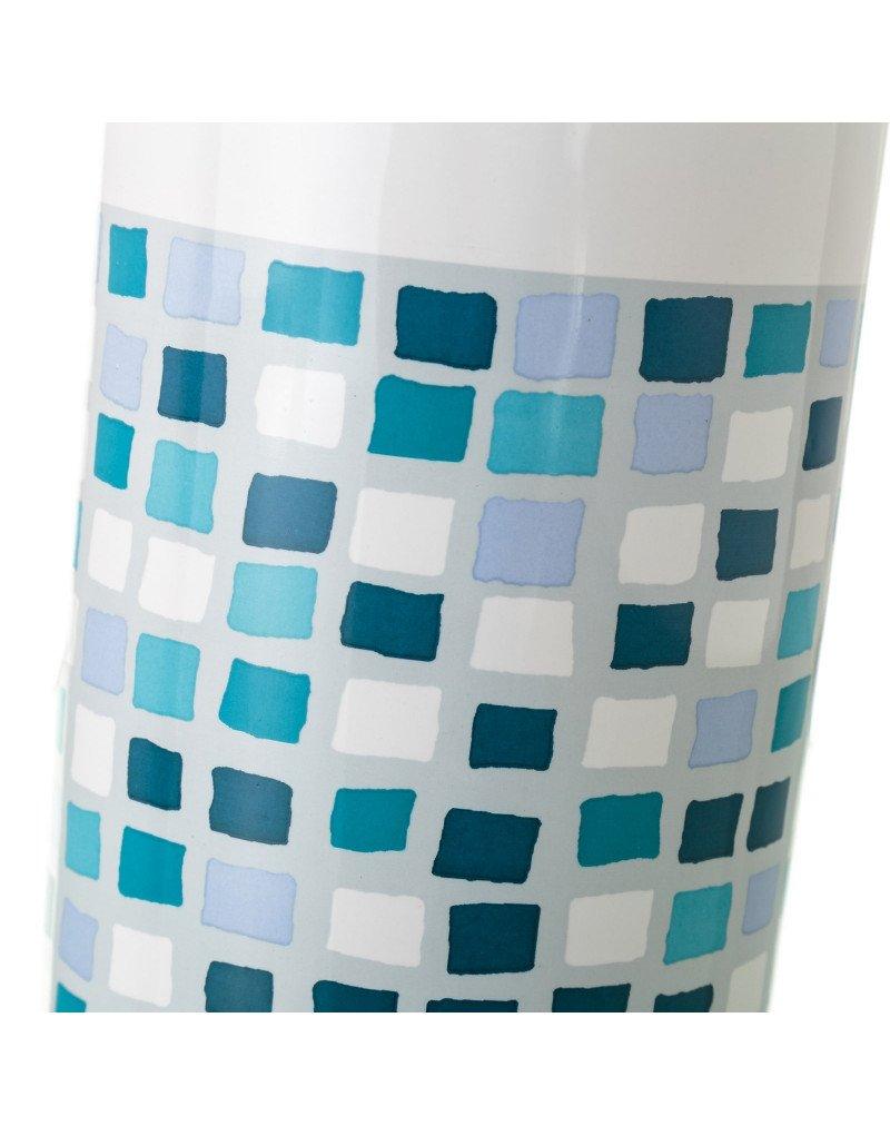 Escobillero de Cer/ámica con Estilo Mosaico de Distintas tonalidades Azules Hogar y M/ás Dise/ño de Baldosa