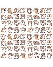 OIIKI 225pcs Otter Laptop Stickers, Kawaii Sea Otter Scrapbook Decals Small Size DIY Decoration Cute Animal Stickers for Laptop, Office Computer, Scrapbook, Daily Planners, Kids Craft (Otter)