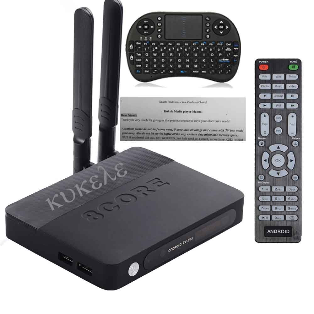 Android 6.0 Marshmallow TV Box  [K-U updator/Krypton 17/ S912/3GB+32GB/Octa Core/4K/Antenna] by KUKELE