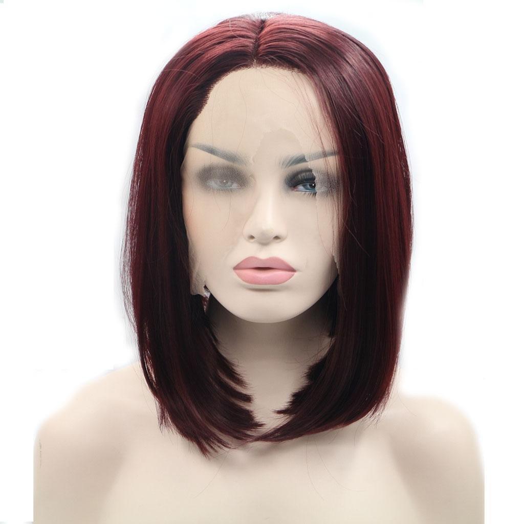 Pelucas Europa y los Estados Unidos señorita cosplay recta antes de la fibra de cordón químico gradiente de alta temperatura de alambre peluca Cap