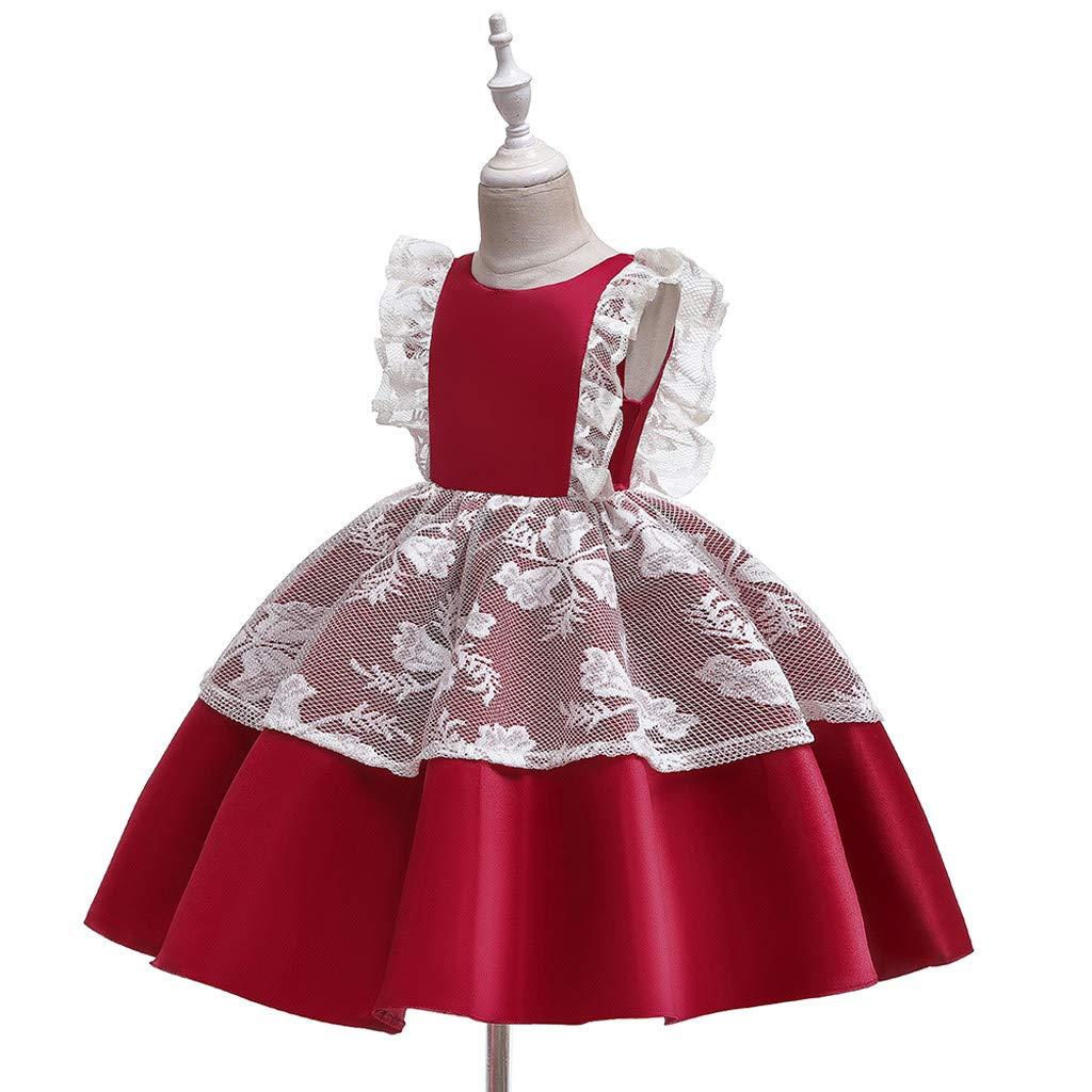 0-2 A/ños,SO-buts Ni/ño Beb/é Ni/ñas Encaje Princesa Vestido De Fiesta Boda Vestido De Tul Ropa De Cosplay Vestidos Formales