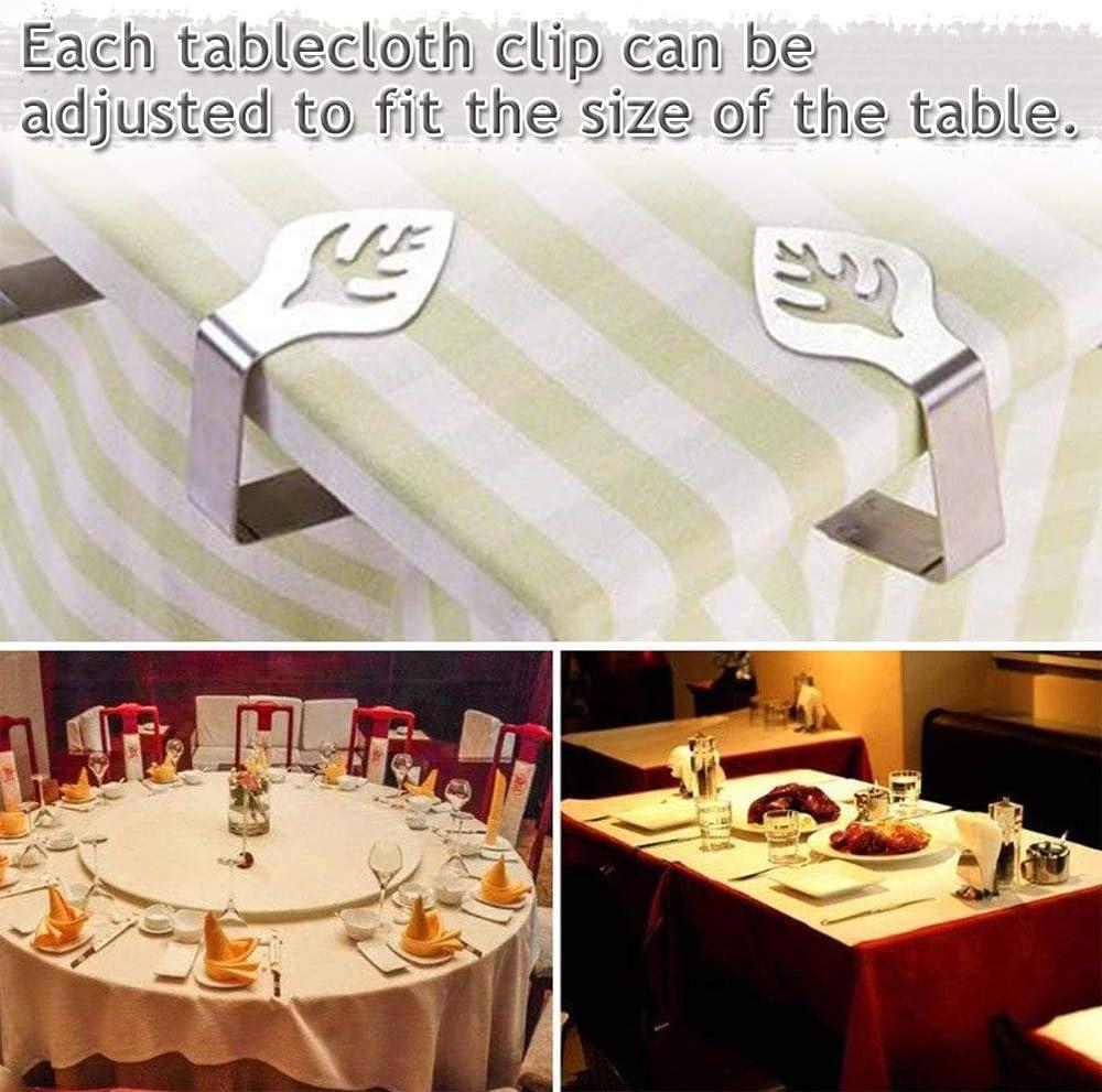 4x hoja en forma Mantel Clips-kitchencraft