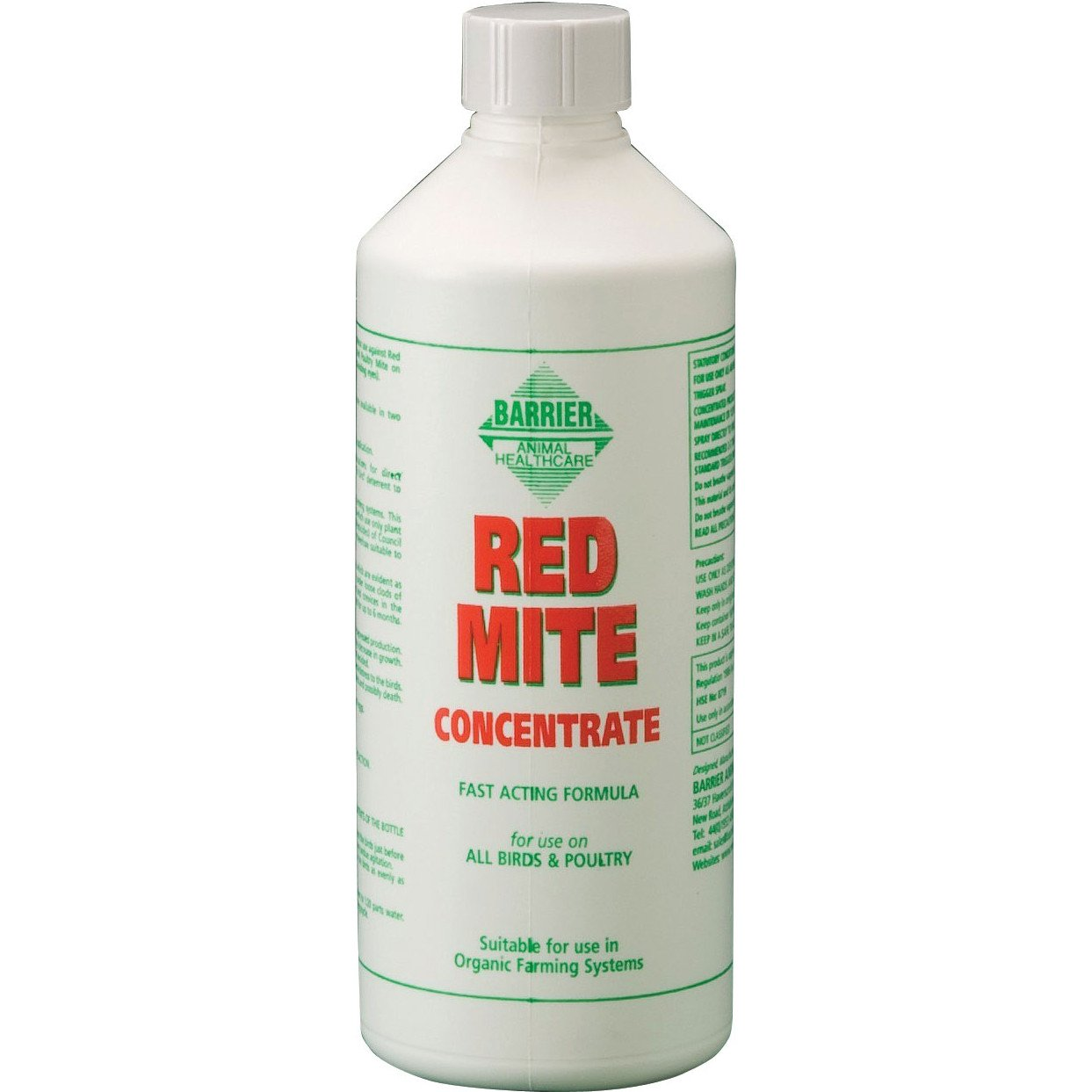 Barrier Animal Healthcare Red Mite Concentrate, 500 ml 14RMC