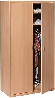 Kleiderschrank 2 Türen buche beige Schrank Drehtürenschrank ... | {Kinderzimmer buche 76}