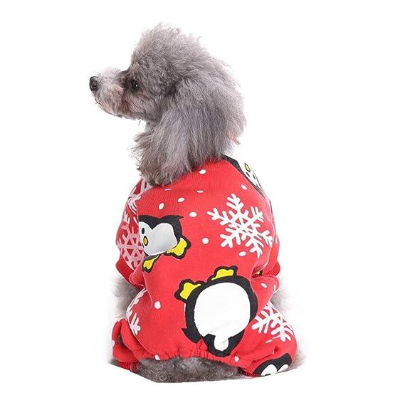 Ropa para Mascotas,Dragon868 Navidad Rojo Nieve Camisas Ropa Mascotas Perros Gato: Amazon.es: Ropa y accesorios