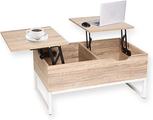 Happy Home Top - Mesa de Café con 2 Compartimentos Ocultos de ...