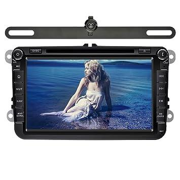 YINUO 8 Pulgadas 2 Din In Dash Pantalla Táctil Estéreo Reproductor De DVD Navegador GPS De