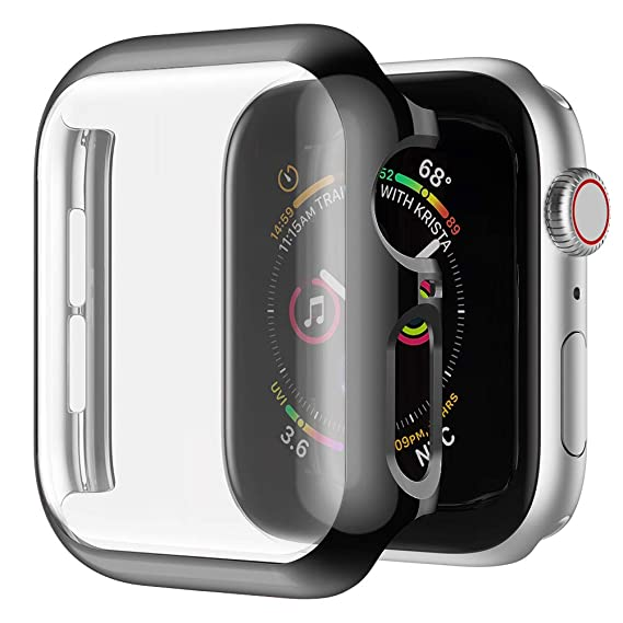 watch ad3ae 2e6b6 SIRUIBO Compatible with Apple Watch 40mm Screen Protector, Hard PC iWatch  40mm Case Full Protector for Apple Watch Series 4, Black