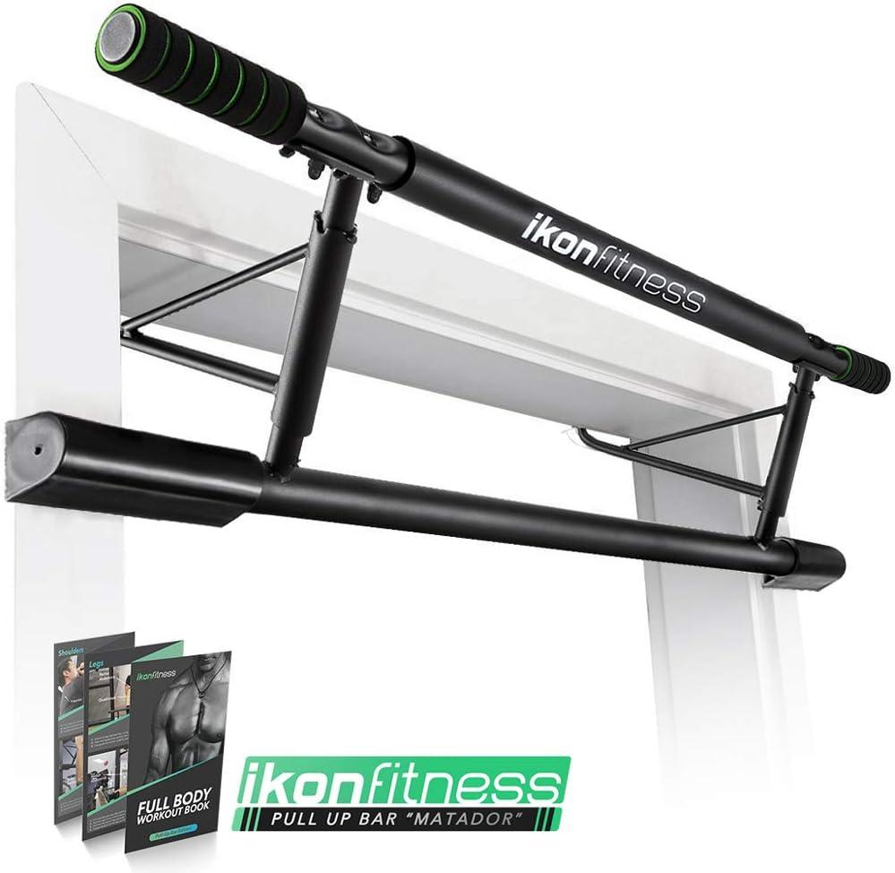 Ikonfitness Pull Up Bar with Smart Larger Hooks Technology - USA Original Patent, USA Designed, USA Shipped, USA Warranty