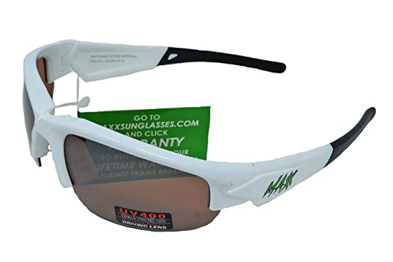 ef37cfec78d Maxx HD M Line Dynasty Zombie TR90 Sunglasses All Sport Golf (White Black)  at Amazon Men s Clothing store