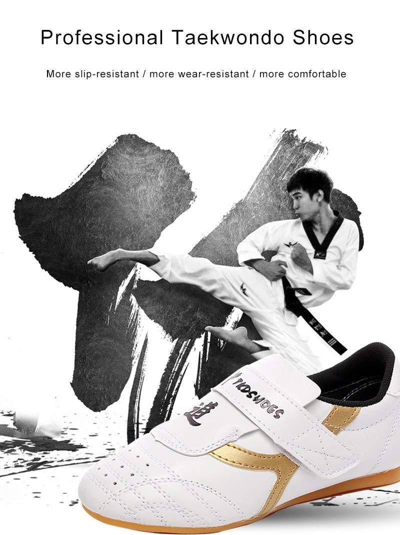 Amazon.com: Ruiyue Professional Kids Adult Children Zapatillas Taekwondo Non-Slip Wear-Resistant Men White Sneakers Kickboxing Karate Kung Fu Training ...