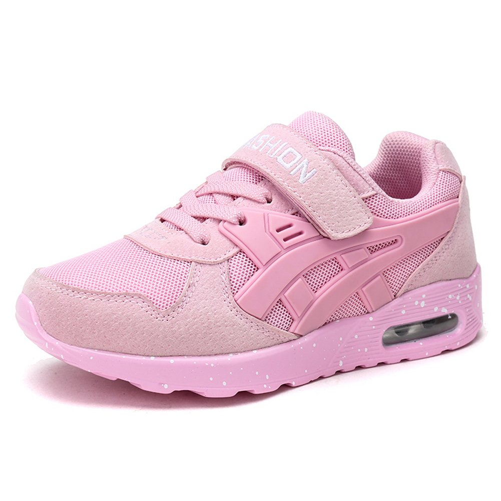 Z.SUO Boy's Girl's Casual Strap Light Weight Sneakers Running Shoes(Little Kid/Big Kid) (13-3.5 M US Little Kid, Pink)