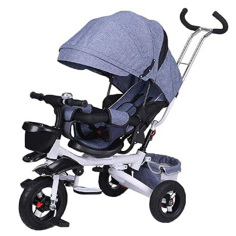 GSDZY - Triciclo Plegable para Niños 3 En 1, Cochecito, con ...