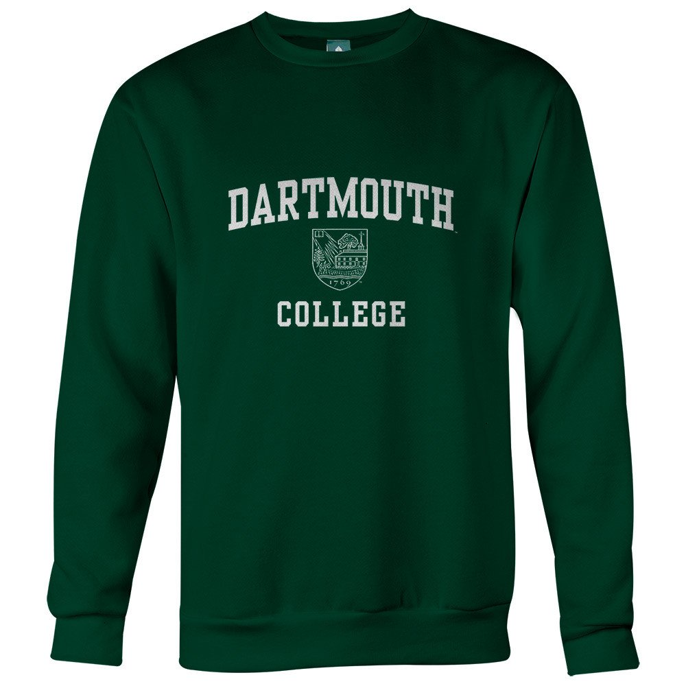 Ivy League Cotton Crewneck Sweatshirt with Crest Logo Ivysport