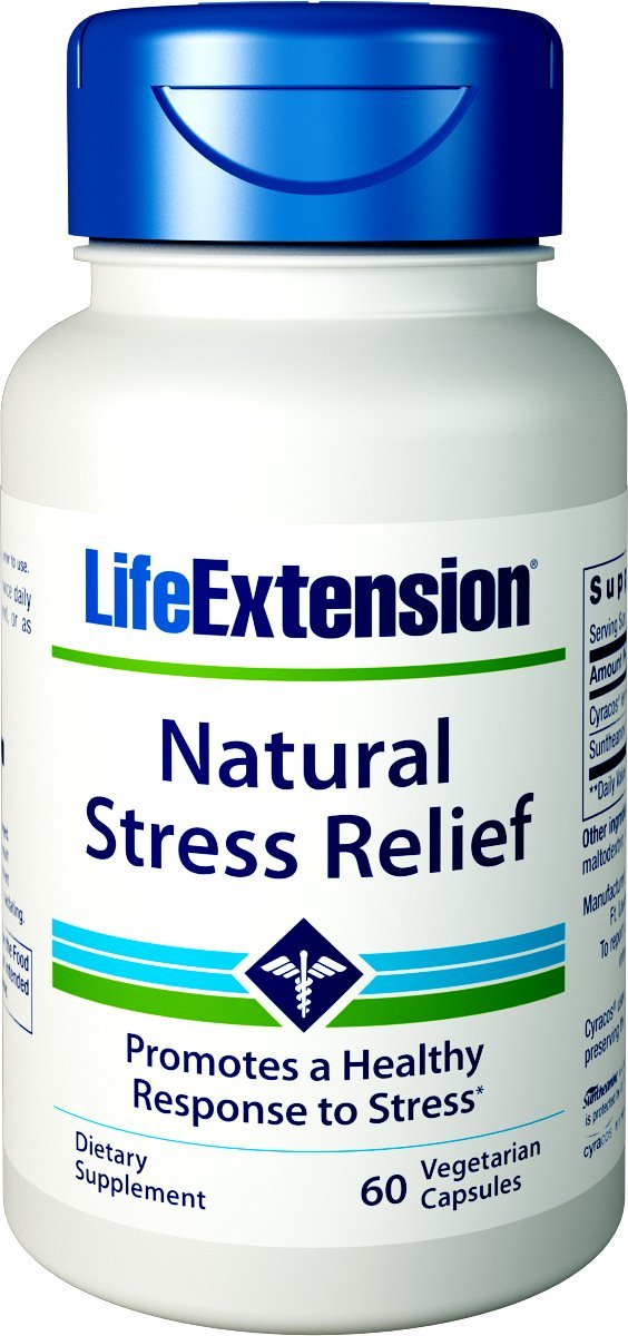 Life Extension Natural Stress Relief Formula, 60 Count