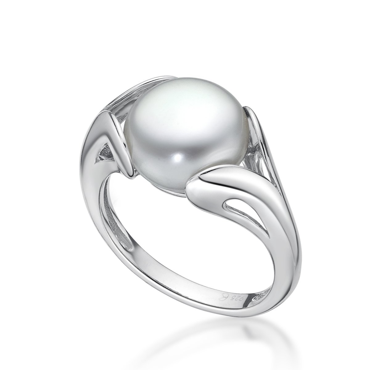 Sterling Silver Freshwater Pearl Ring, 10.5-11mm