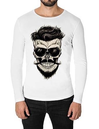 T Homme Shirt CrâneCol Rondmod1005rn Moderno Imprimé sChxtQrd