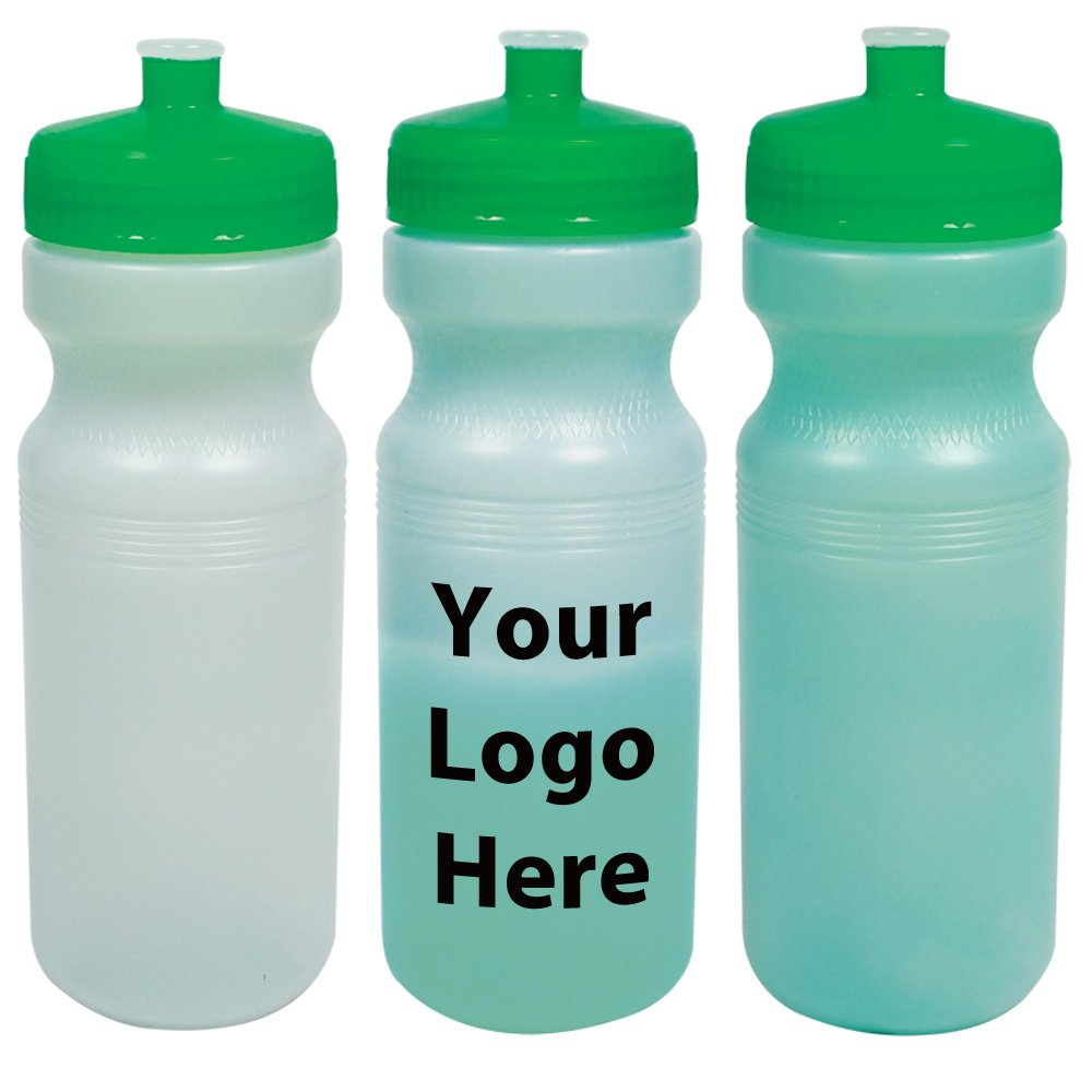 24 Oz. Color - Changing Water Bottle - 100 Quantity - $3.00 Each - PROMOTIONAL PRODUCT / BULK / BRANDED with YOUR LOGO / CUSTOMIZED