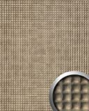 WallFace 17851 QUADRO Wall panel self-adhesive Square Leather decor Wallcovering self-adhesive bronze glossy | 2,60 sqm