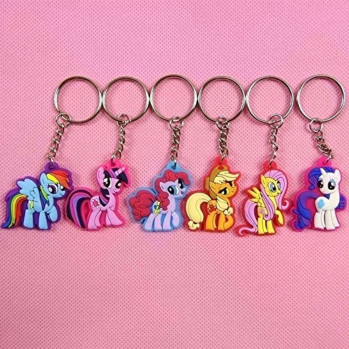 6pcs/set Cute Horse Keychain my lovely little horse action figures cute doll toys for Children
