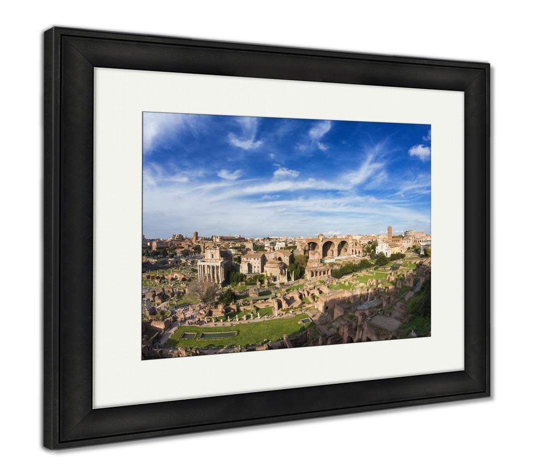 Ashleyフレームプリント、広い角度のビューのフォーラムRomanum under a beautiful sky Rome Italy注意ソフト 30
