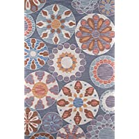 Momeni Rugs SUMITSUM-3BLU2030 Summit Collection, Hand Knotted Transitional Area Rug, 2 x 3, Blue
