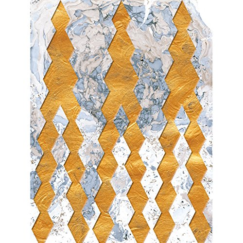 Marble Satin Gold Wall - Wee Blue Coo LTD Artistic Gold Diamonds Pattern Design Abstract Marble Poster Print