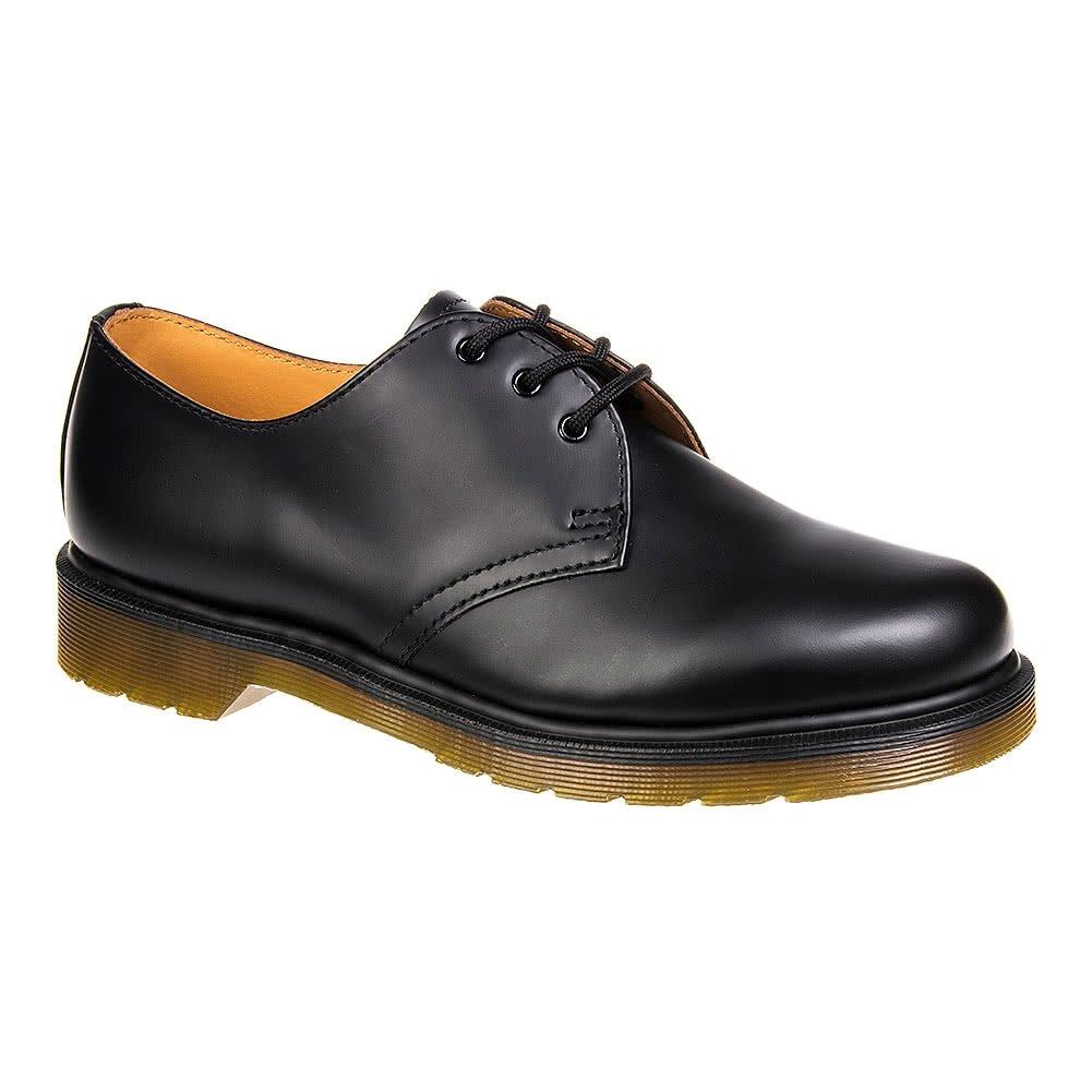 Dr Martens Band, 1461 PW 11839002 schlichtes Band, Martens glatt, 3 Ösen Schuhe schwarz c9541a