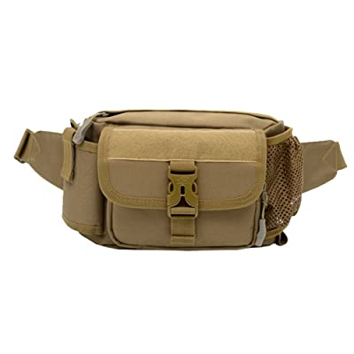 Men Fanny Pack Waist Pack Water Resistant Tactical Hip Belt Bag YB04