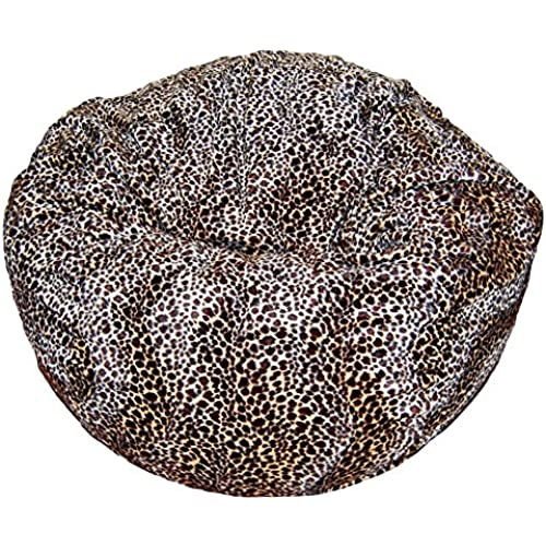 Ahh! Products Cheetah Animal Print Fur Washable Large Bean Bag Chair