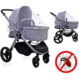 sunnybaby D10359 - Mosquitera carrito, color negro: Amazon ...