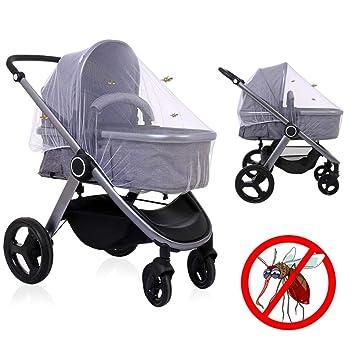 a57ebaf313 LEADSTAR Universal Insektenschutz Mückennetz Moskitonetz Fliegennetz mit  Gummizug für Kinderwagen Buggy Babz Bett Reisebett, Weiß