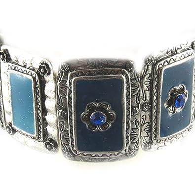 Bracelet Of French Touch Oxana Blue Amazon Co Uk Jewellery