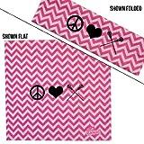 ChalkTalkSPORTS RokBAND Multi-Functional Headband - Peace Love Lacrosse - Chevron Pink White